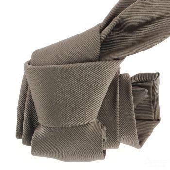 Cravate luxe faite à la main, Taupe