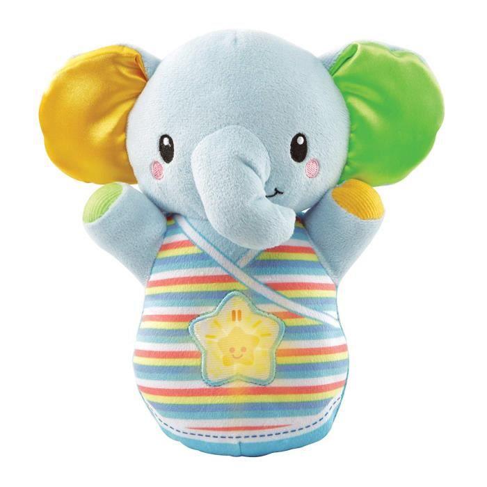 VTech Baby ? trompito éléphant en Peluche pour bébé Bleu - 3480-508622