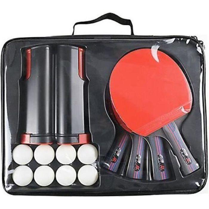ZG28042-Raquette de Ping Pong Professionnel Set, 4 Raquette de Tennis de Table + 8 Balles de Ping-Pong