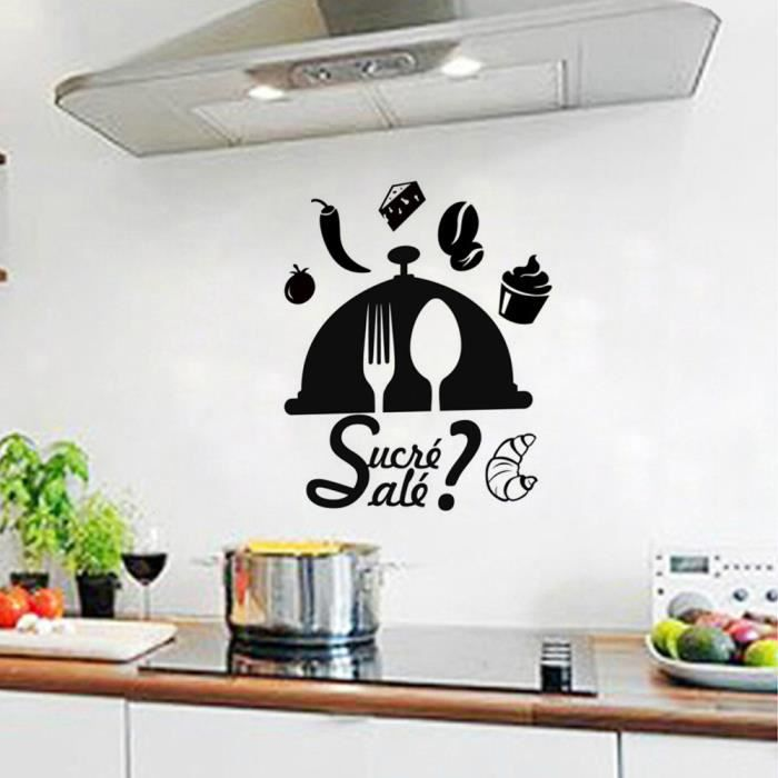 stickers muraux de cuisine achat vente stickers muraux de cuisine pas cher cdiscount. Black Bedroom Furniture Sets. Home Design Ideas