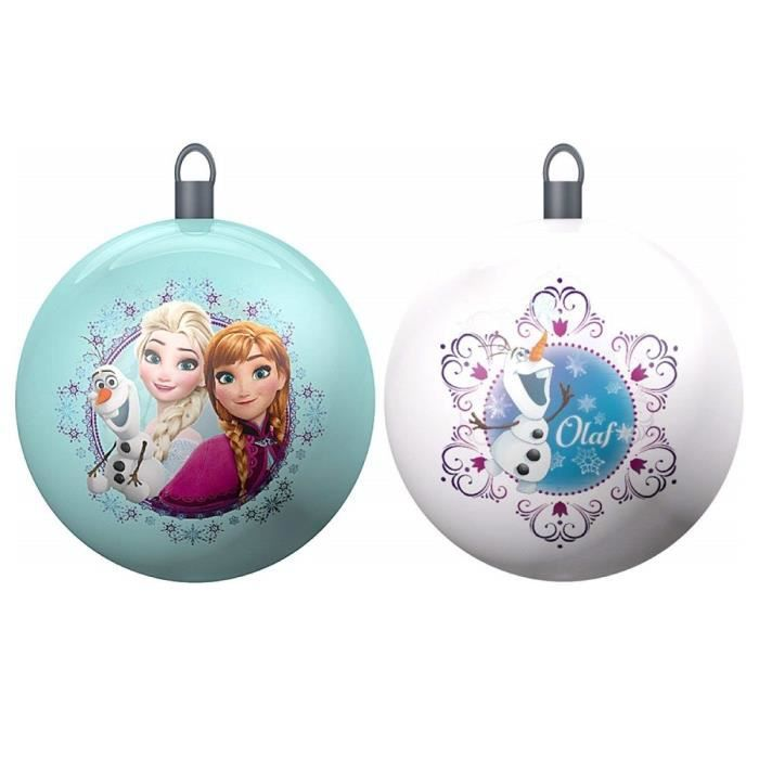 Set de 2 Boules de Noël Disney La Reine des Neige 8cm   Frozen