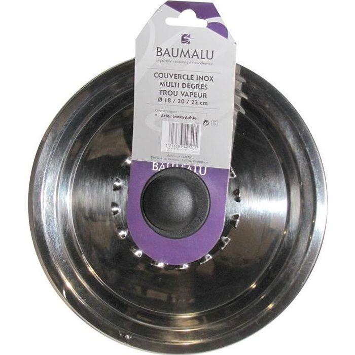 COUVERCLE VENDU SEUL Couvercle inox avec trou vapeur - 28/30/32 cm