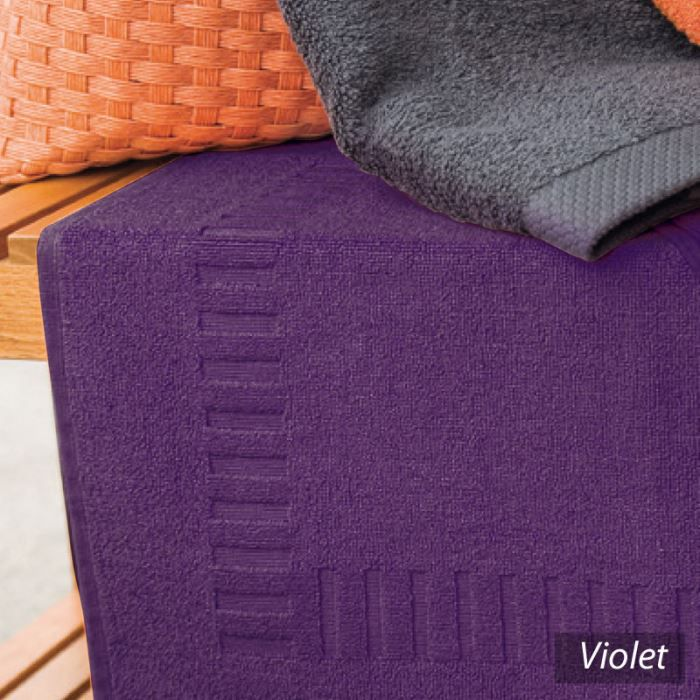 tapis de bain pure violet ponge 50x70cm achat vente tapis de bain cdis. Black Bedroom Furniture Sets. Home Design Ideas