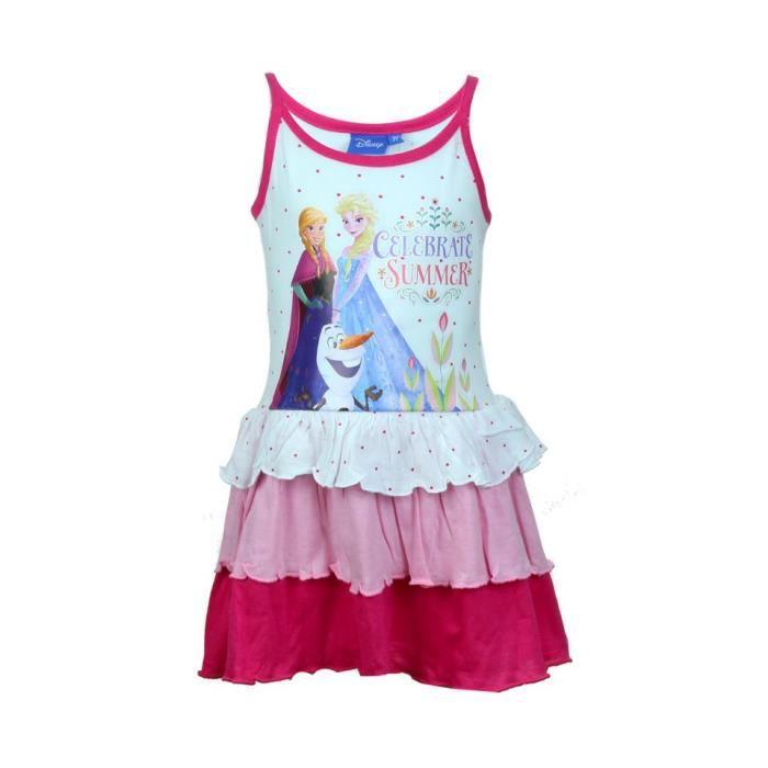Disney La Reine Des Neiges Robe Fille Rose Achat Vente Deguisement Panoplie Cdiscount