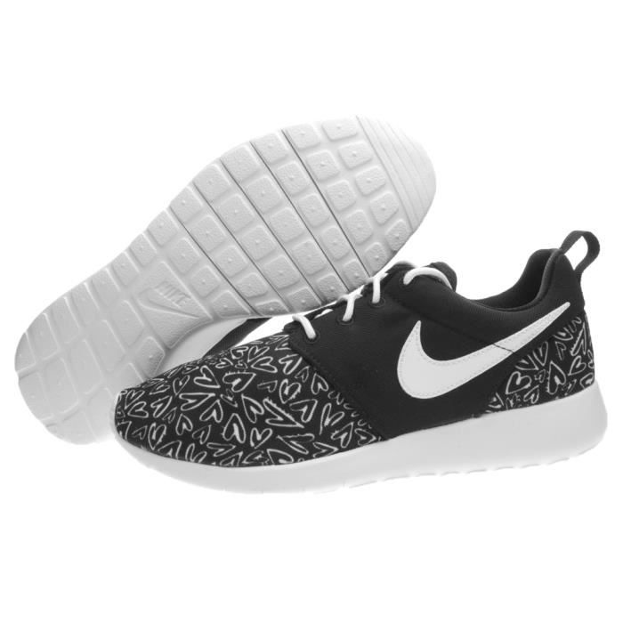 best selling the best attitude buying cheap BASKET NIKE ROSHE ONE PRINT (GS) TAILLE 38.5 COD 677784-005 Noir ...