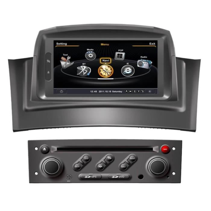 autoradio gps renault megane 2 kangoo i phase 2 achat vente autoradio autoradio gps. Black Bedroom Furniture Sets. Home Design Ideas