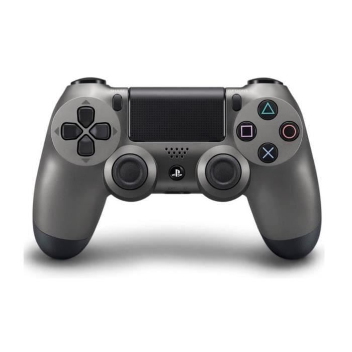 manette console manette de jeu dualshock 4 steel black ps4 prix pas cher cdiscount. Black Bedroom Furniture Sets. Home Design Ideas