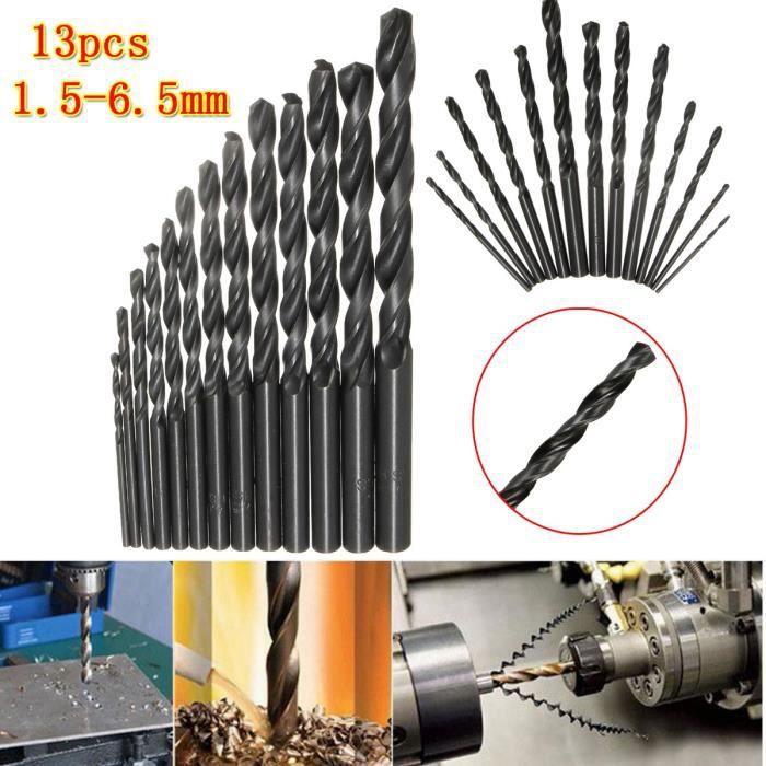 HSS Drill Bit Set Revêtement Titane forets 1.5-6.5 Forets Métal Bois Plastique