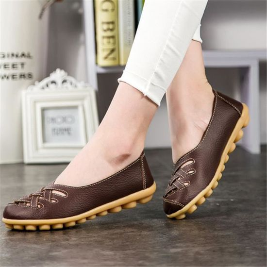 Chaussures Femmes ete Loafer BTYS-XZ053Marron35 Ultra Leger plate Chaussures BTYS-XZ053Marron35 Loafer Marron Marron - Achat / Vente escarpin 294596