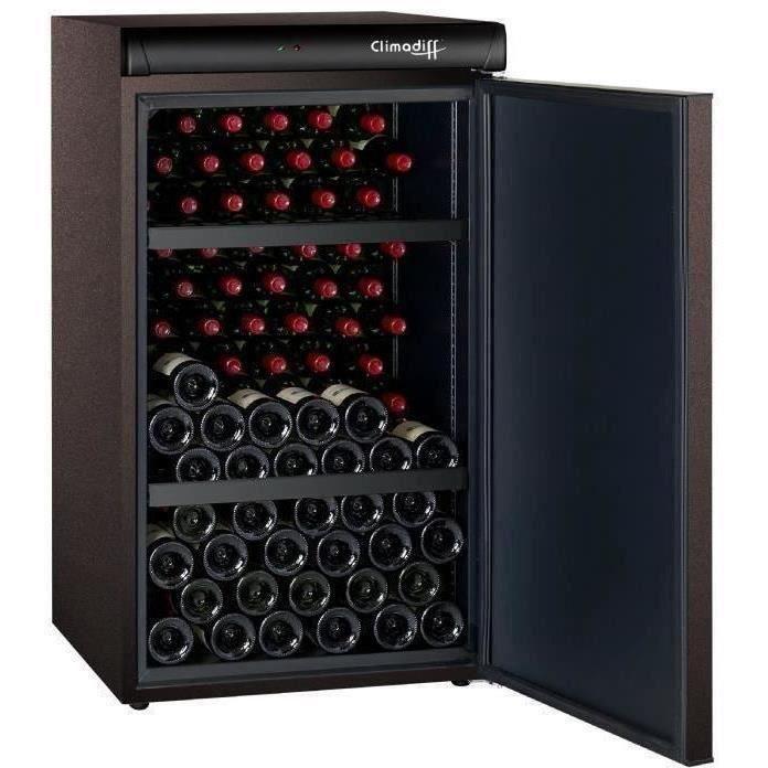 CLIMADIFF CLV122M - Cave à vin de vieillissement - 120 bouteilles