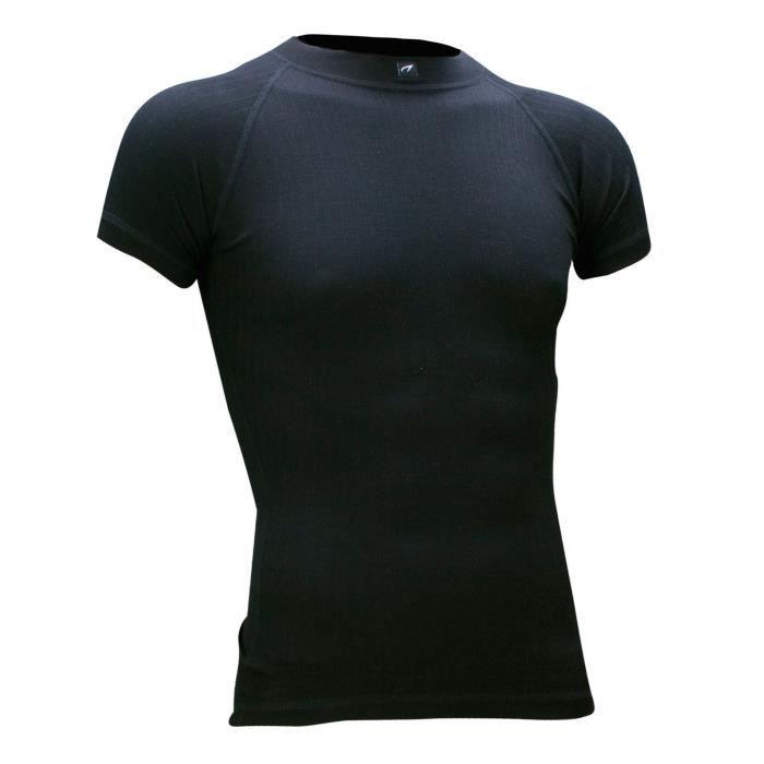 AVENTO Sous-vêtement thermique Manches Courtes - Homme - Noir
