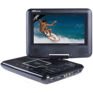 LECTEUR DVD PORTABLE TAKAVR122B Lecteur DVD portable - Écran rotatif 7