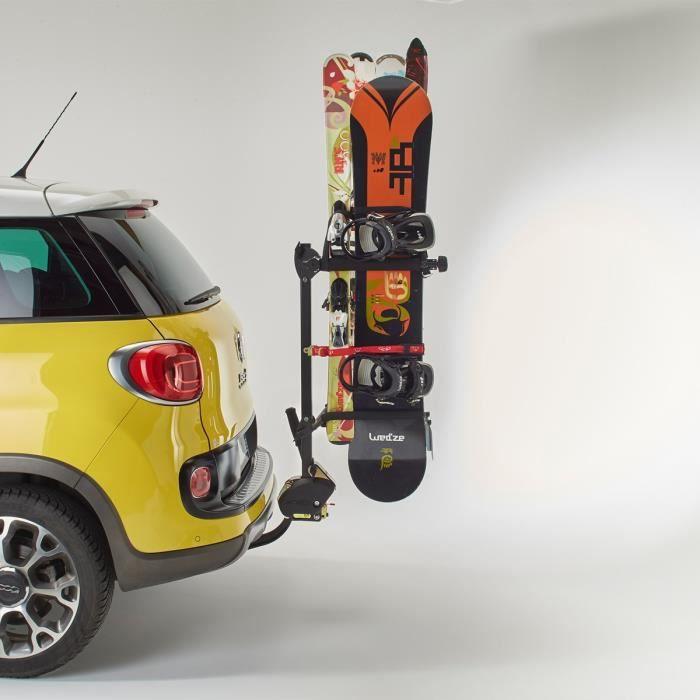 Kit porte-surf Snow Plus à appliqué sur un porte skis magnétique Pour 1 surf