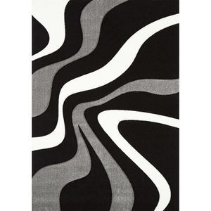 TAPIS DIAMOND VAGUES Tapis de salon 160x230 cm noir, gri