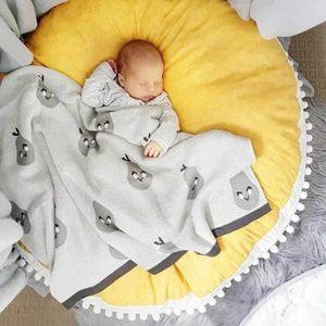 TAPIS Bébé couverture Grand coussin rond coton coussin é