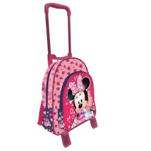 CARTABLE MINNIE - Grand cartable trolley 41cm 2 zips ADORAB