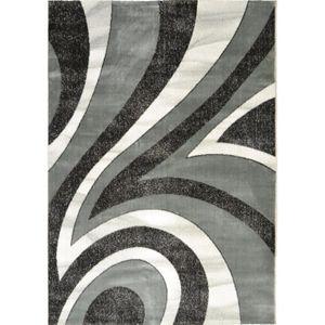TAPIS BAHIA Tapis de salon 160x230 cm gris, noir et blan