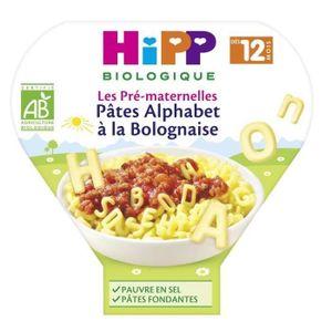 PLATS PRÉPARÉS SOIR HIPP BIOLOGIQUE Les pré maternelles pâtes alphabet