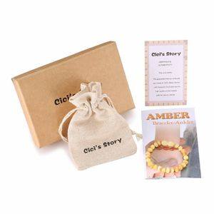 COLLIER AMBRE bracelet ambre bebe(Butterscotch)(14cm) - Boite ca