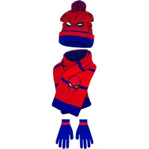 BONNET - CAGOULE Ensemble SPIDERMAN bonnet écharpe gants enfant gar