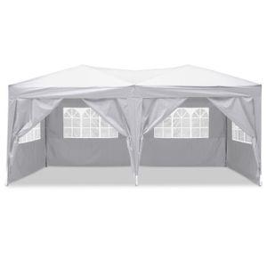 TENTE DE CAMPING Tente Pliante de Réception 3x6m avec panneau latér