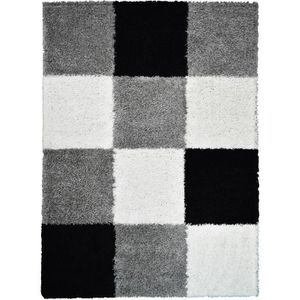 TAPIS NORA Tapis de salon shaggy - 160 x 230 cm - Noir à