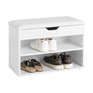 BANC SoBuy® FSR25-W Banc de Rangement à chaussures 2 ét