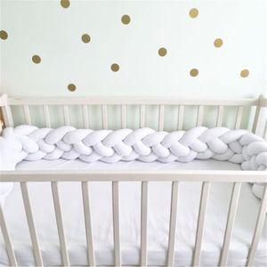 BARRIÈRE DE LIT BÉBÉ 2M clôture de sécurité de Lit Berceau 4 brins bébé