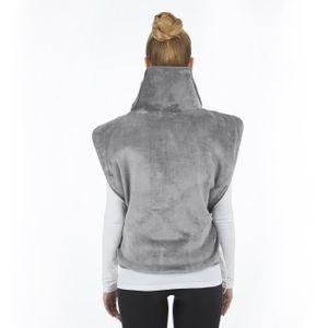 COUVERTURE CHAUFFANTE VITALmaxx  couverture chauffante cou et dos gris 1