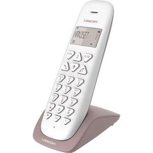 Téléphone fixe LOGICOM Téléphone sans fil VEGA 150 SOLO Taupe san