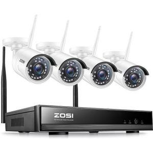 CAMÉRA DE SURVEILLANCE H.265+ Vidéo Surveillance Sans fil 4CH 1080p NVR a