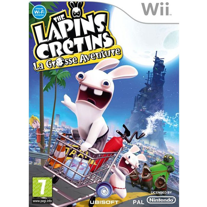 the lapins cretins la grosse aventure jeu pour achat vente jeux wii the lapins cretins. Black Bedroom Furniture Sets. Home Design Ideas