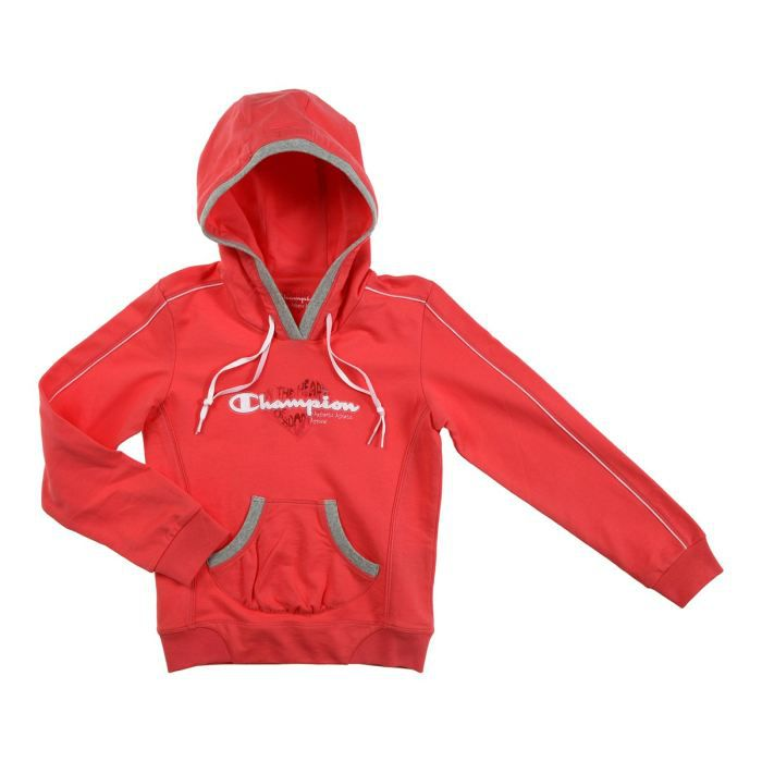 champion sweat capuche enfant fille corail achat vente sweatshirt champion sweat capuche. Black Bedroom Furniture Sets. Home Design Ideas