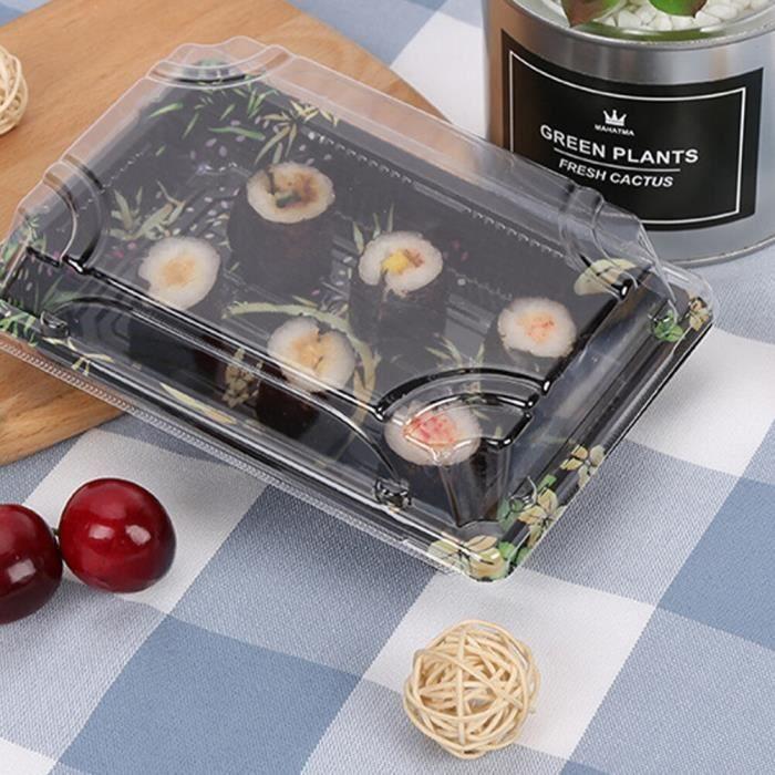 50pcs Jetable Sushi Boîte D'emballage Boîte À Emporter Récipient de Nourriture Rectangle Effectuer Boîte Gâteau Aux [EE2ECB4]