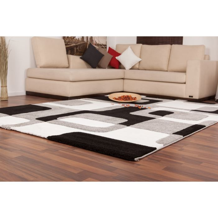 tapis moderne 160x230cm 100 polypropyl ne gris achat vente tapis cdiscount. Black Bedroom Furniture Sets. Home Design Ideas