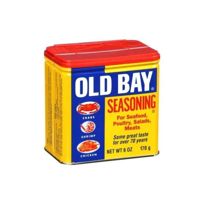 Assaisonnement pour fruits de mer, viandes et salades composées: «Old Bay Seasoning»