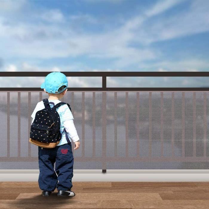 Filet De Sécurité Pour Bébé Avec,Filet De Sécurité Escalier Filet De Protection,Filet De Sécurité Pour Balcon Et Escalier,Filet[217]