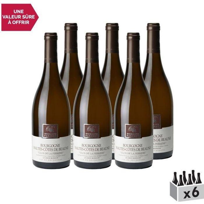Bourgogne Hautes Côtes de Beaune Clos de la Perrière la Croix Blanche Blanc 2018 - Lot de 6x75cl - Domaine Parigot Père et Fils -
