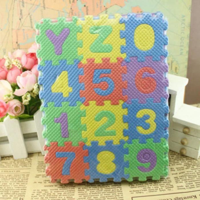 Puzzle tapis mousse 36 pcs pour 2-3 ans bébé Jeu éducation