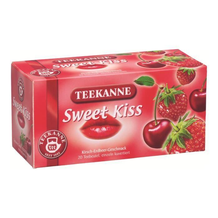 TEEKANNE Sweet Kiss Sacs à thé aux plantes 60 g framboise, cerise pack de 20