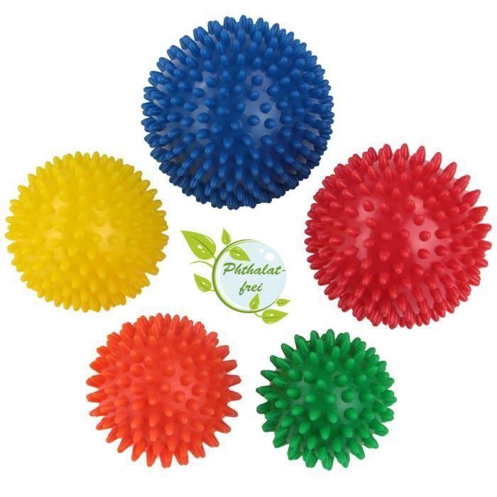 BB Sport balles de massage avec différentes duretés et tailles Set de 5 boules de massage à picots
