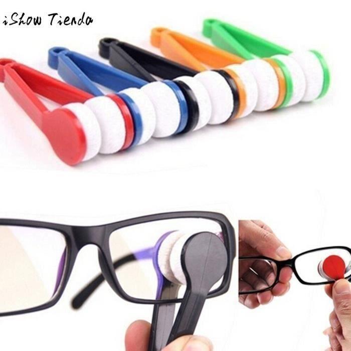 2 verres lunettes de soleil lunettes de soleil nettoyage brosse chiffon essuie-glace Kit microfibre microfibra chiffons pano de