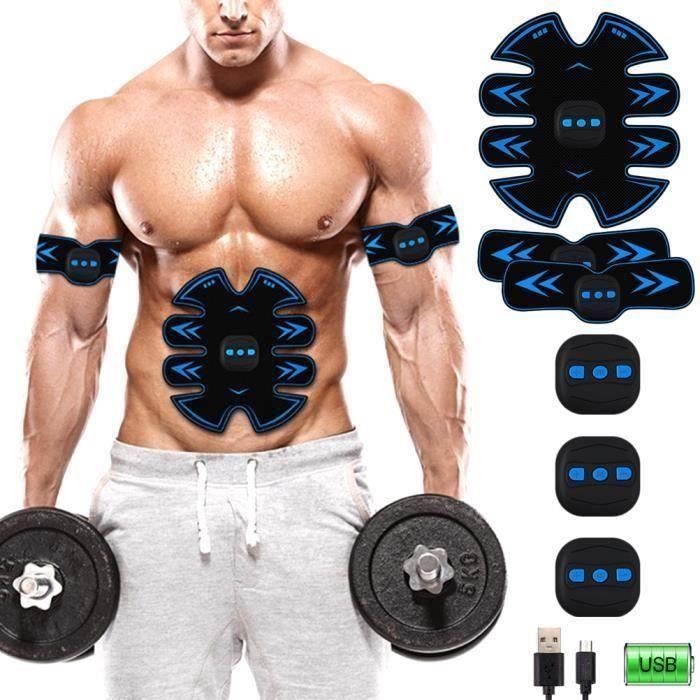 Ceinture Abdominale, Electrostimulateur Musculation Abdominaux Bras Cuisses Appareil Fitness pour Hommes Femmes An20071