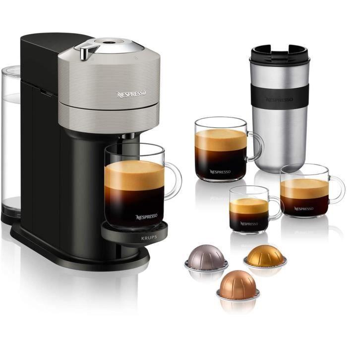 CAFETIERE Nespresso Krups Vertuo Next Gris Clair Machine Expresso Machine agrave Cafeacute 5 Tailles de Tasses 11 L YY4298FD71