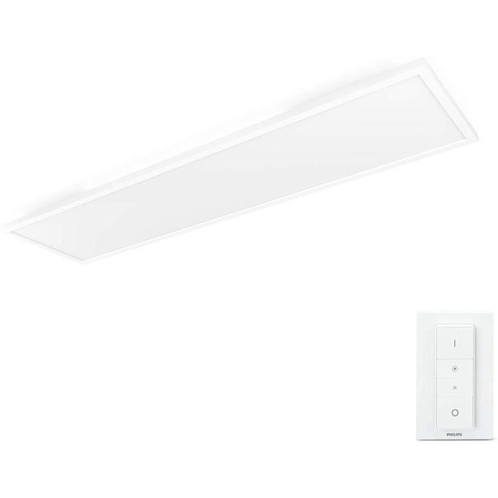 PLAFONNIER Philips Hue White Ambiance AURELLE Panneau LED 120X30 cm 55 W Blanc teacuteleacutecommande incluse294