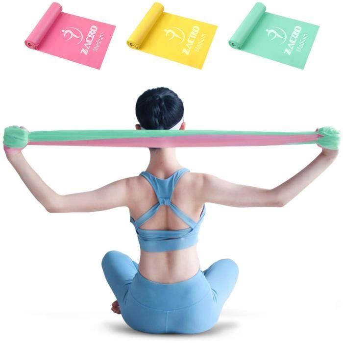 ELASTIBAND - SANGLE DE MUSCULATION Zacro Lot de 3 bandes de fitness, bande de fitness 100 % latex naturel, bande de sport, utilis362
