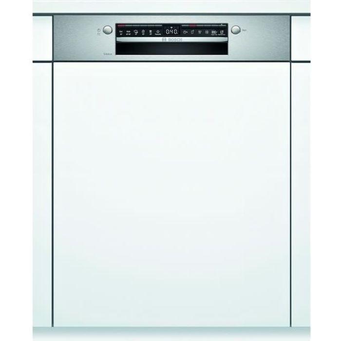 Lave-vaisselle intégrable BOSCH SMI4HTS31E Série 4 - 12 couverts - Induction - L60cm - 46 dB - Bandeau inox