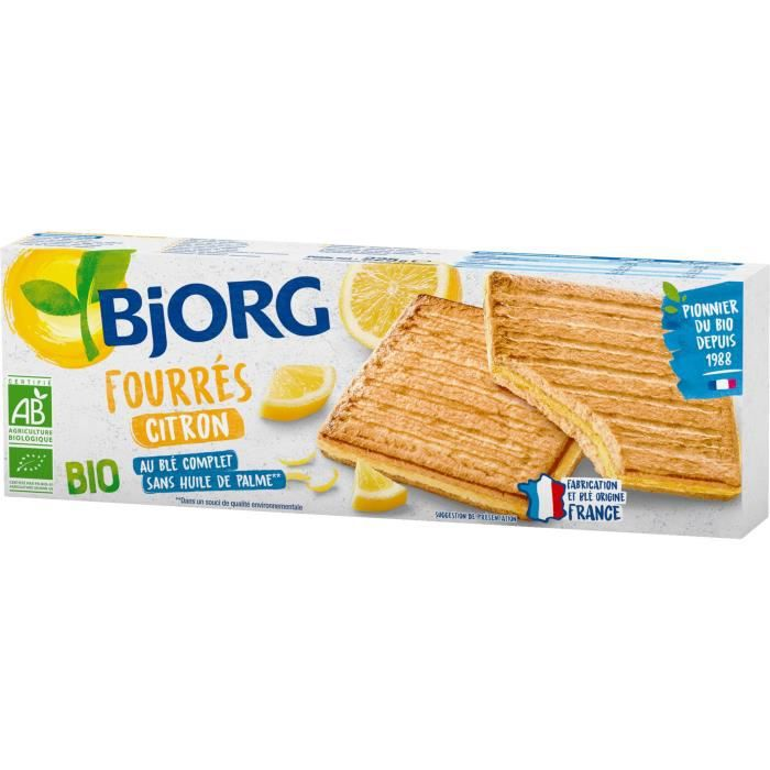 BJORG Fourres Citron Bio 225g