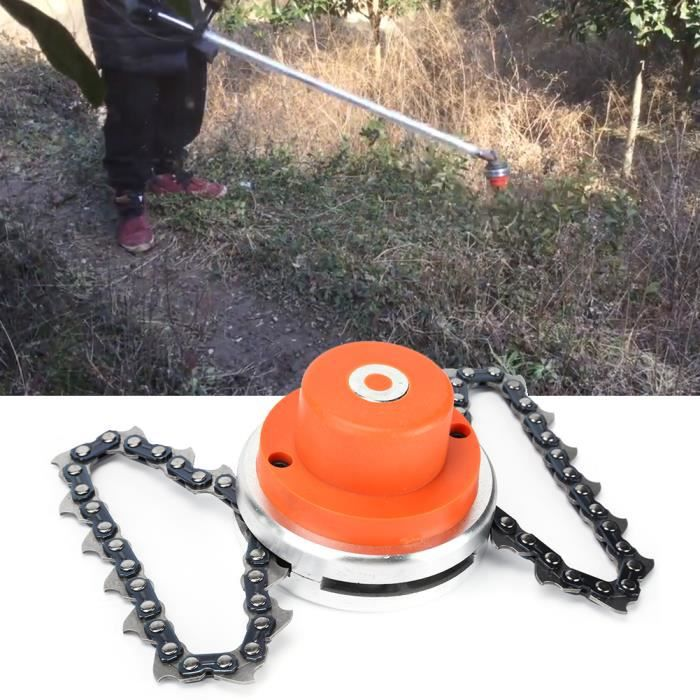 JARD-Lv.life☀Remplacement universel tête coupe-herbe chaîne tondeuse à gazon outils pièces rechange débroussailleuse (orange)☀GOL