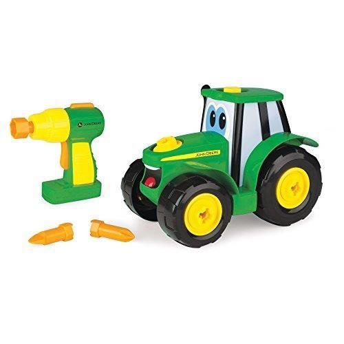 TOMY - Jeu de Construction Enfant,Je construis Mon Johnny de John Deere 46655, Jeu d'Assemblage, Jouet Éducatif, Jeu Pre 4665